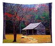 Smoky Mtn. Cabin Tapestry