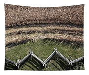 Snake-rail Fence And Cornfield Tapestry