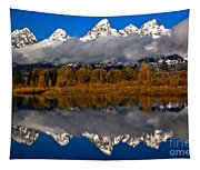 Snake River Fall Reflections Tapestry