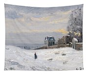 Snow At Montmartre Tapestry