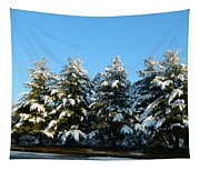 Snow Covered Trees Tapestry
