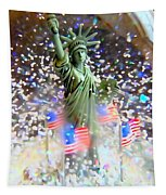 Snow Globe Liberty Tapestry