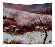Snow In The Ardennes 78 Tapestry