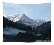 Snow On The Mountains Tapestry