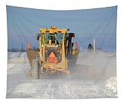 Snow Plowing Tapestry