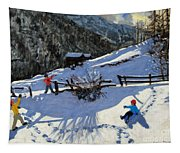 Snowballers Tapestry