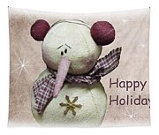 Snowman Greeting Card Tapestry
