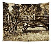 Snowplow Sepia Tapestry