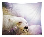Snowstorm Kisses Tapestry