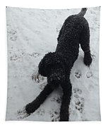Snowy Dog Tapestry