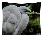 Snowy Egrets Tapestry