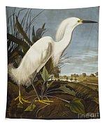 Snowy Heron Tapestry