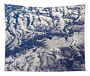 Snowy Landscape Aerial Tapestry