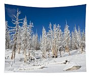 Snowy Trees Tapestry