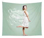 Soap Suds Pin Up Girl Tapestry