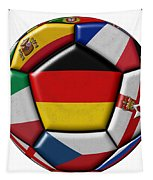 Soccer Ball With Flag Of German In The Center Tapestry