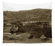 Soda Springs And Cliff House In Manitou, Colorado Tapestry