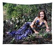 Sofia Of Ameynra. Cybergoth Belly Dancer Tapestry