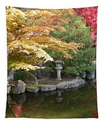 Soft Autumn Pond Tapestry