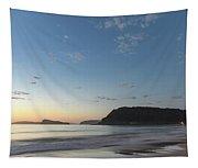 Soft Blue Dawn Seascape Tapestry
