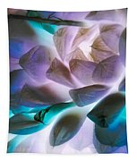 Soft Glow Succulents Tapestry