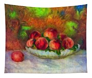 Soft Peaches Still Life Tapestry