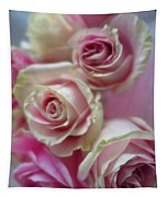 Soft Pink Roses Tapestry