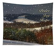 Soft Sifting Christmas Card Tapestry