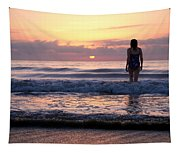 Soft Waves Tapestry