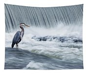 Solitude In Stormy Waters Tapestry