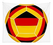 Soocer Ball With Germany Flag Tapestry