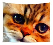 Soulfull Eyes Kitten Portrait Tapestry