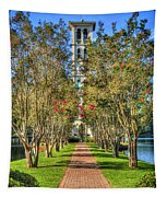 Sounds Of Victory The Bell Tower Furman University Greenville South Carolina Art Tapestry