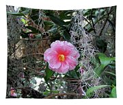 Southern Pink Camellia Tapestry
