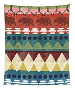 Southwest With Bears- Art By Linda Woods Tapestry