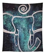 Space Elephant Spiral 2 Tapestry