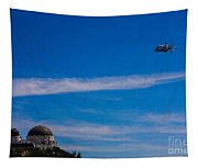 Space Shuttle Over Griffith Observatory Tapestry