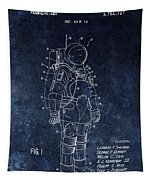 Space Suit Patent Illustration Tapestry