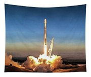 Spacex Iridium-5 Mission Falcon 9 Rocket Launch Tapestry