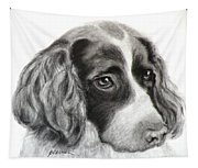Spaniel Drawing Tapestry