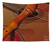 Spanish Guitar And Flute Tapestry