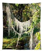Spanish Moss Over The Swamp Tapestry