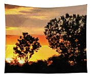 Spectacular Sunset In The Midwest Tapestry