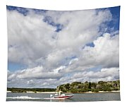 Speedy Red Boat Tapestry