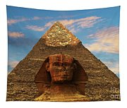 Sphinx And Pyramid Of Khafre Tapestry