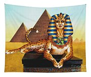 Sphinx On Plinth Tapestry