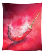 Spicy Food Art Tapestry