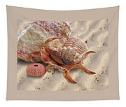 Spider Conch Shell On The Beach Tapestry