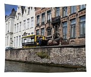 Spieglerei Canal In Bruges Belgium Tapestry