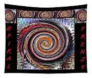 Spiral Frenzy Poster Tapestry